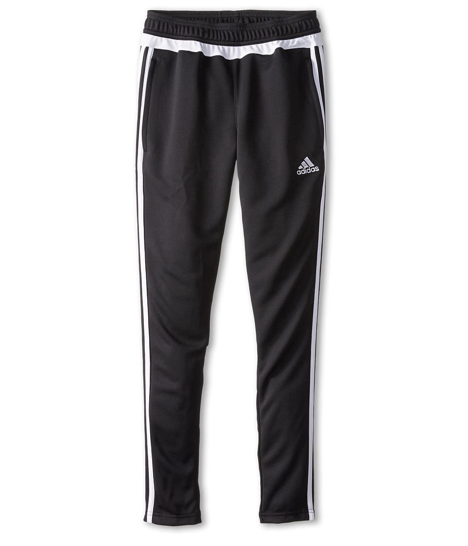 adidas Kids - Tiro 15 Pant (Little Kids/Big Kids) (Black/White) Girl's Workout