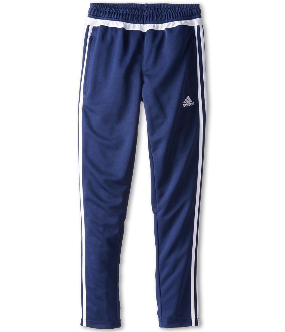 adidas Kids - Tiro 15 Pant (Little Kids/Big Kids) (Dark Blue/White) Girl's Workout