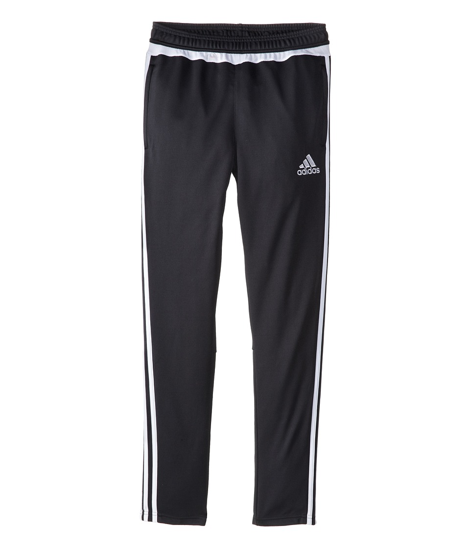 adidas Kids - Tiro 15 Pant (Little Kids/Big Kids) (Dark Grey/White) Girl's Workout