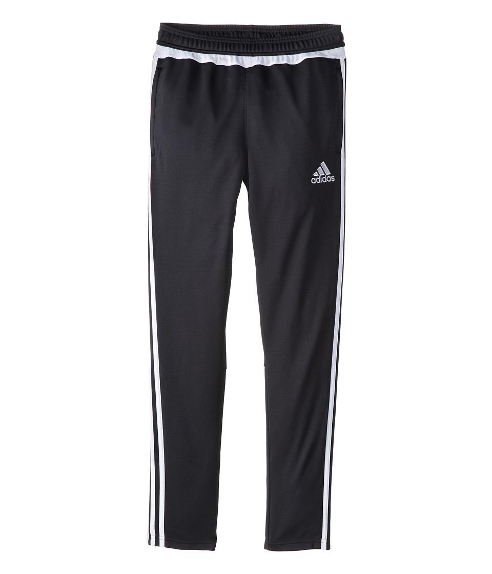 adidas Kids - Tiro 15 Pant (Little Kids/Big Kids) (Dark Grey/White) Girl's Workout
