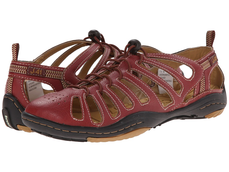 J-41 - Lagoon - Barefoot (Red/Tan) Women's Shoes