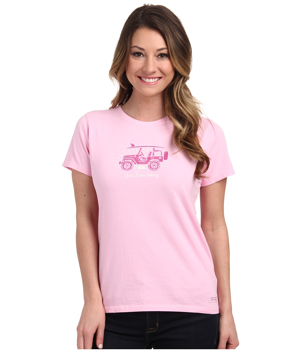 Life is good - Crusher Tee (Open Door Policy/Deco Pink) Women