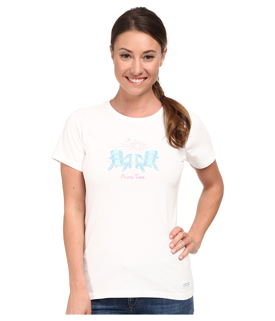 Life is good Crusher Tee (Prime Adirondacks/Cloud White) Women