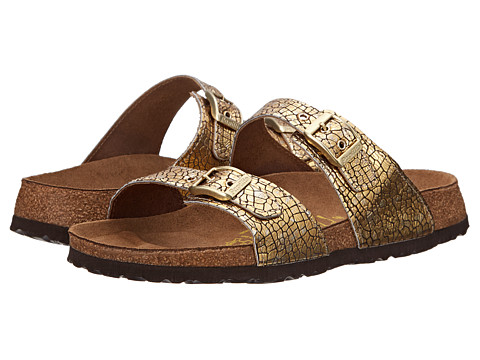 Birkenstock - Sydney by Papillio (Cassis Crack Gold Leather) Women