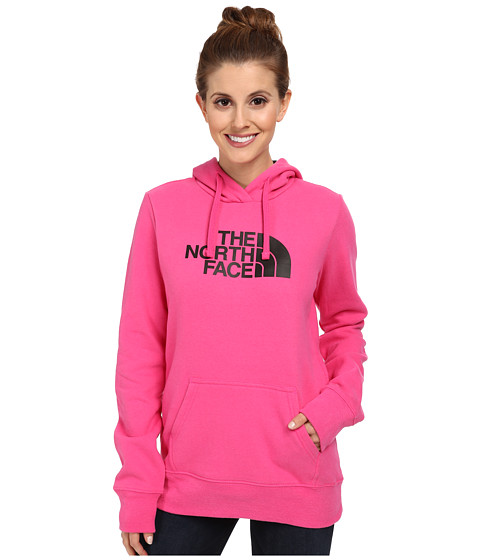The North Face - Half Dome Hoodie (Glo Pink/TNF Black) Women's Sweatshirt