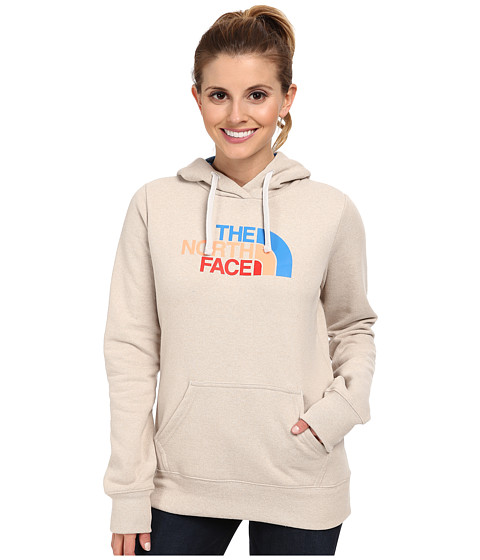 The North Face - Half Dome Hoodie (Oatmeal Heather/Clear Lake Blue Multi) Women's Sweatshirt