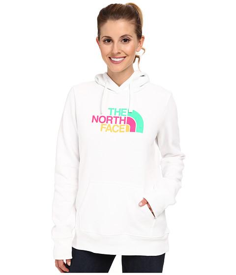 The North Face - Half Dome Hoodie (TNF White/Surreal Green Multi) Women's Sweatshirt