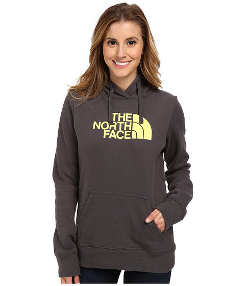 The North Face - Half Dome Hoodie (Graphite Grey/Hamchi Yellow) Women's Sweatshirt