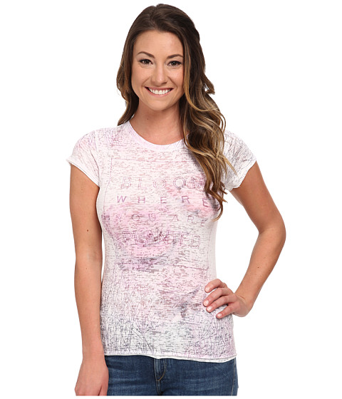 Life is good - Topnotch Burn Out Tee (Cloud White Bloom) Women