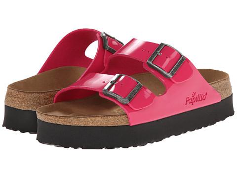 Birkenstock - Arizona Platform by Papillio (Pink Patent Birko-Flor ) Women