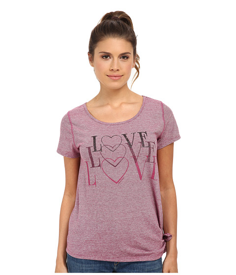 Life is good - Side-Tie Tee (Wild Cherry) Women