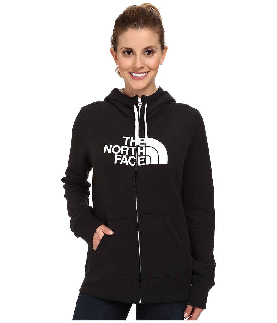 The North Face - Half Dome Full-Zip Hoodie (TNF Black/TNF White) Women's Sweatshirt