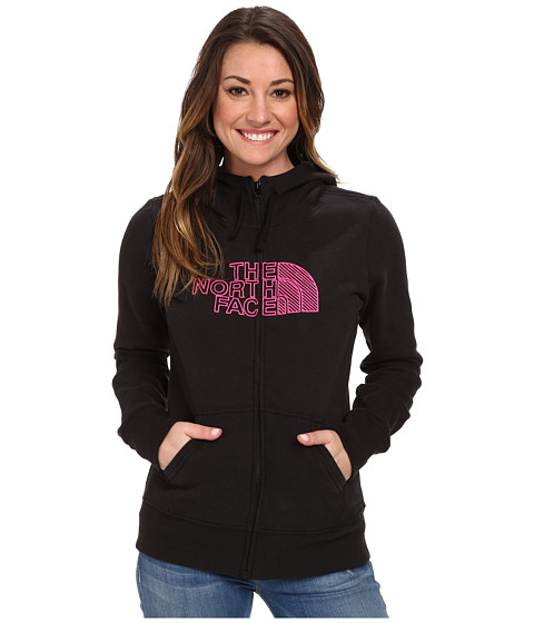 The North Face - Chain Stitched Logo Full-Zip Hoodie (TNF Black) Women