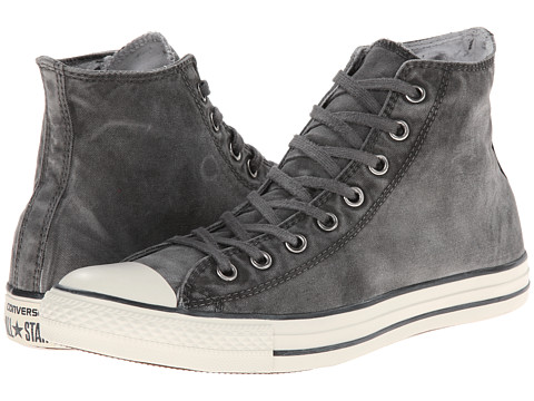 Converse - Chuck Taylor All Star White Wash Hi (Black/Black/Egret) Classic Shoes