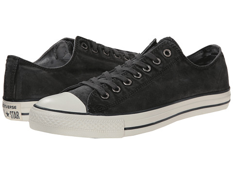 Converse - Chuck Taylor All Star White Wash Ox (Black/Black/Egret) Classic Shoes