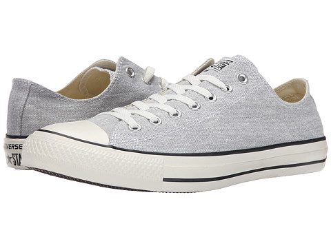 Converse - Chuck Taylor All Star Washed Textile Ox (Mouse/Egret/Black) Classic Shoes