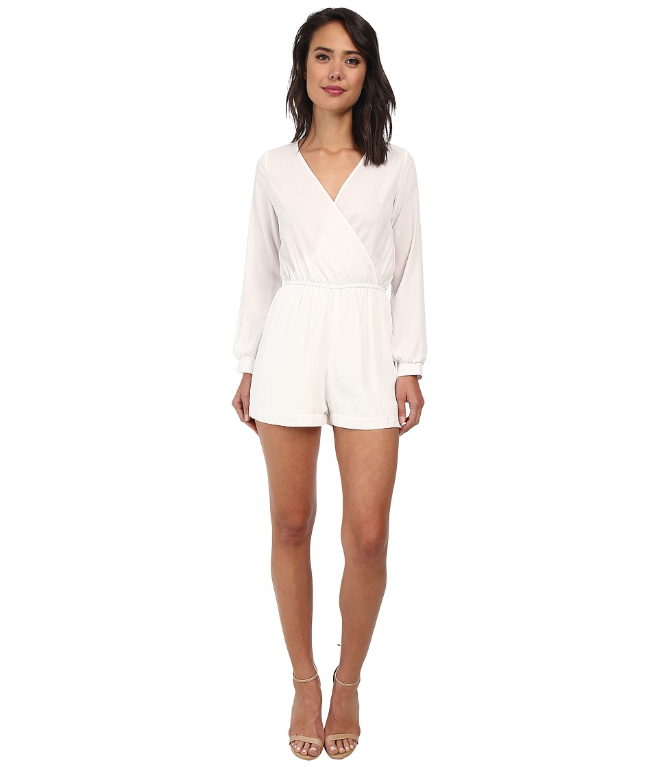 Christin Michaels - Garland Long Sleeve Romper (Ivory) Women's Dress