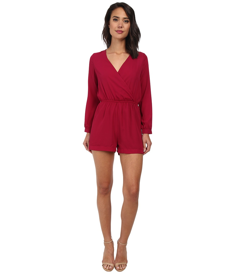 Christin Michaels - Garland Long Sleeve Romper (Magenta) Women's Dress