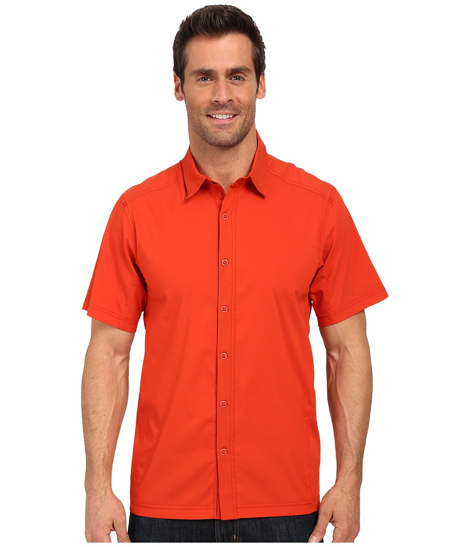 Arc'teryx - Transept SS Shirt (Rojo) Men's Short Sleeve Button Up