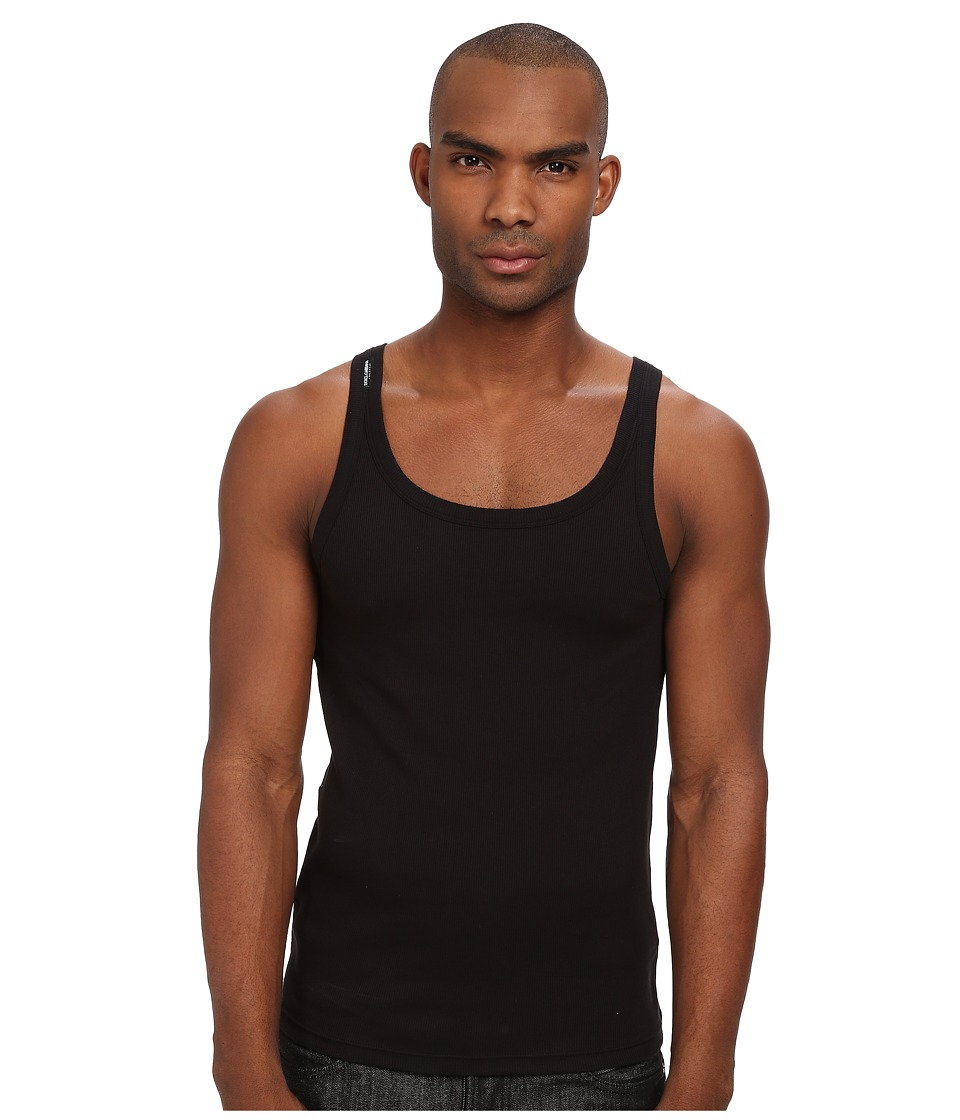 Dolce & Gabbana - Siciliy Rib Tank (Black) Men's Sleeveless