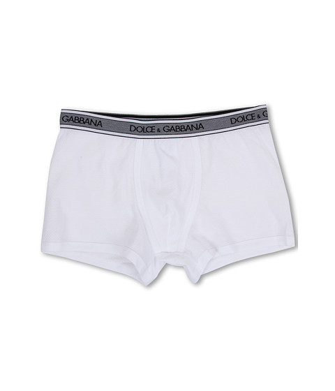 Dolce & Gabbana - Filo Scozia Regular Boxer (White) Men's Underwear