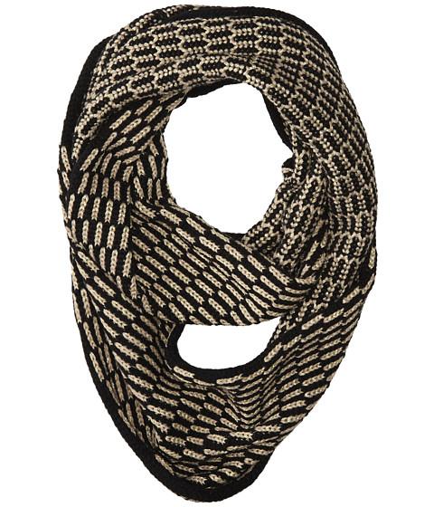 Calvin Klein - Lurex Tuck Stitch Infinity Scarf (Black/Gold) Scarves
