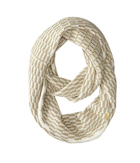 Calvin Klein - Lurex Tuck Stitch Infinity Scarf (Cr me) Scarves