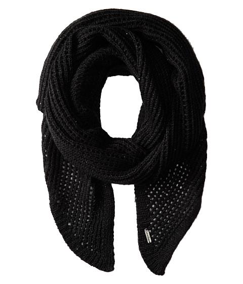 Calvin Klein - Sequin Eyelet Angled Scarf (Black) Scarves