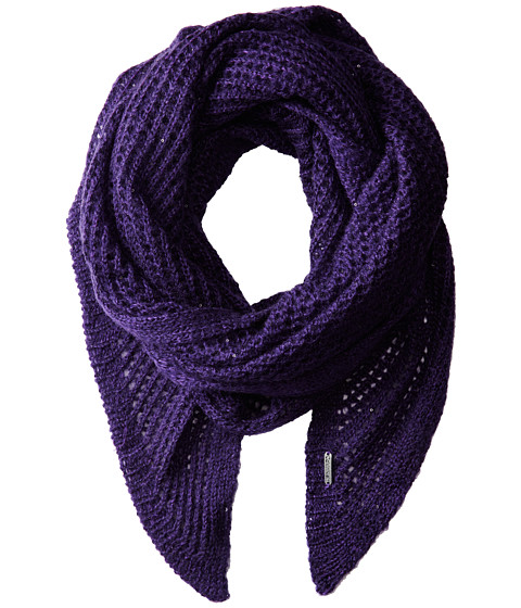 Calvin Klein - Sequin Eyelet Angled Scarf (Deep Purple) Scarves