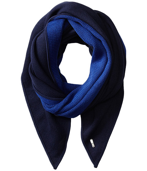 Calvin Klein - Double Faced Angled Scarf (Navy/Ultramarine) Scarves