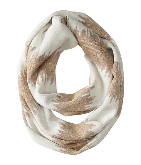 Calvin Klein - Zig Zag Stripe Infinity Scarf (Heathered Almond) Scarves