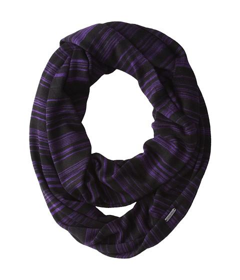 Calvin Klein - Marled Stripe Infinity Scarf (Deep Purple) Scarves