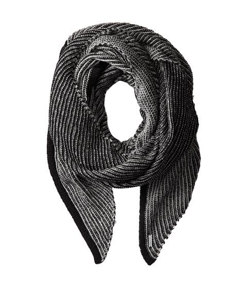 Calvin Klein - Link Stripe Angled End Scarf (Black) Scarves