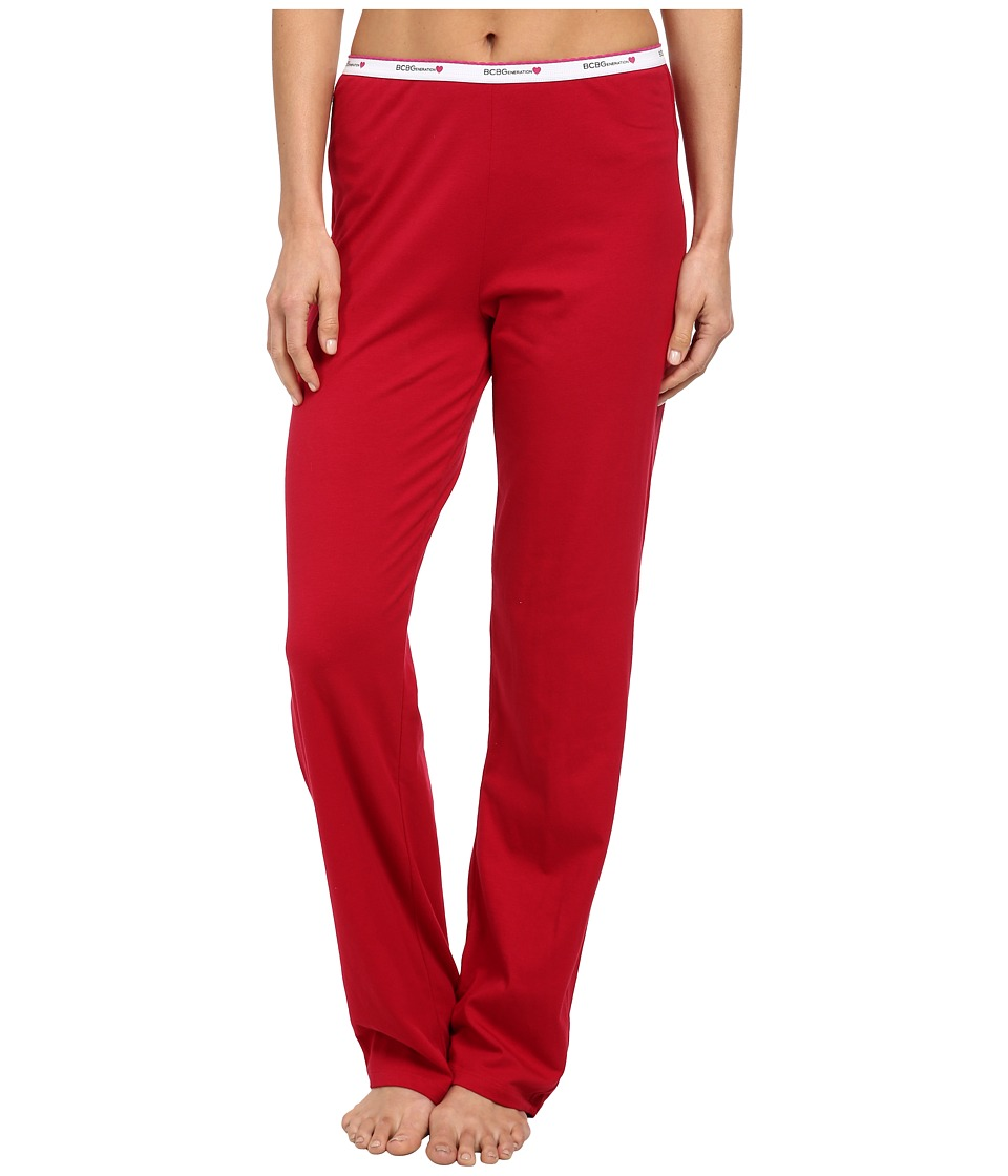 BCBGeneration - Jessa The Uniform Pant (Rouge) Women's Pajama