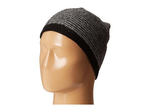 Calvin Klein - Link Stripe Reversible Slouchy Beanie (Black) Beanies