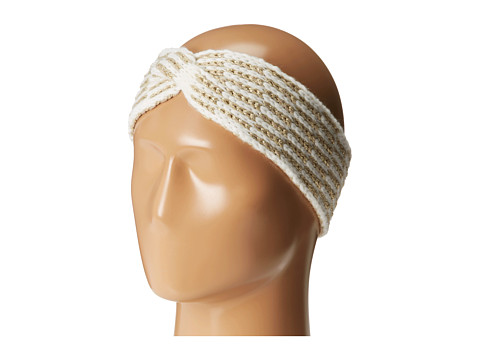 Calvin Klein - Metallic Tile Twisted Headband (Cr me) Headband