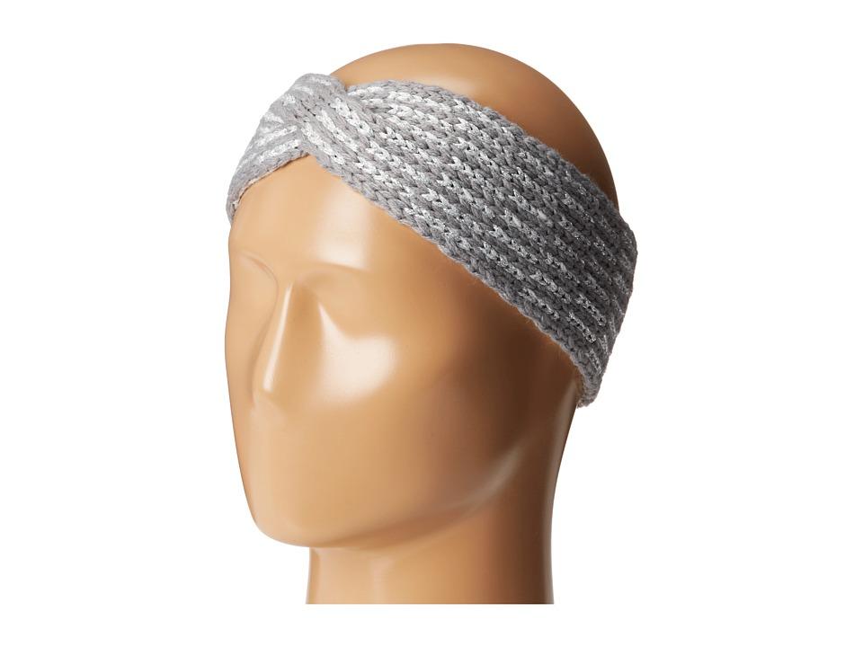 Calvin Klein - Metallic Tile Twisted Headband (Heathered Mid Gray) Headband