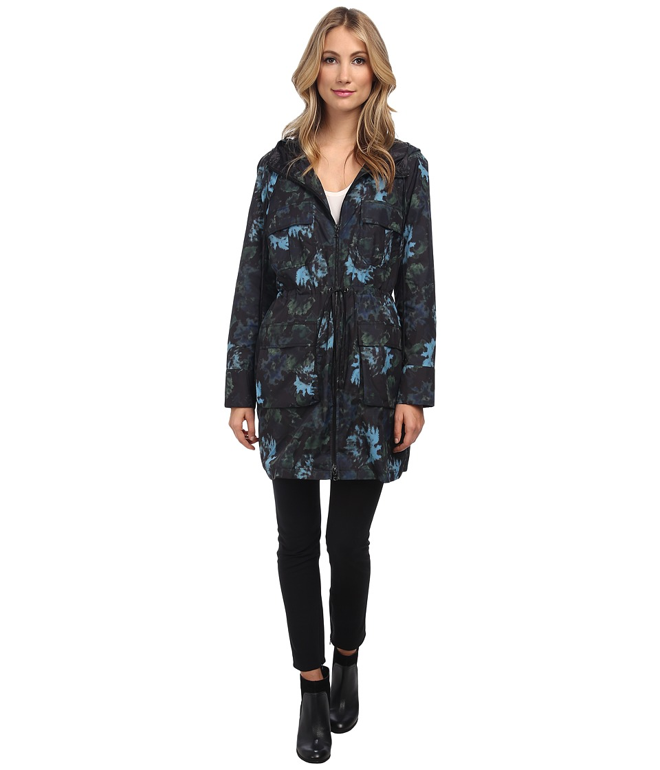 Vera Wang - Watercolor Rose Nylon Parka (Black) Women's Coat