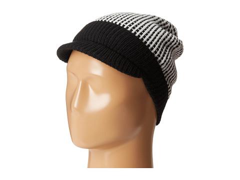 Calvin Klein - Cuffed Cabbie Hat (Black/Creme) Caps