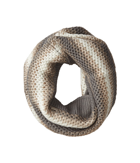 Calvin Klein - Ombre Waffle Knit Neckwarmer (Heathered Mid Gray) Scarves