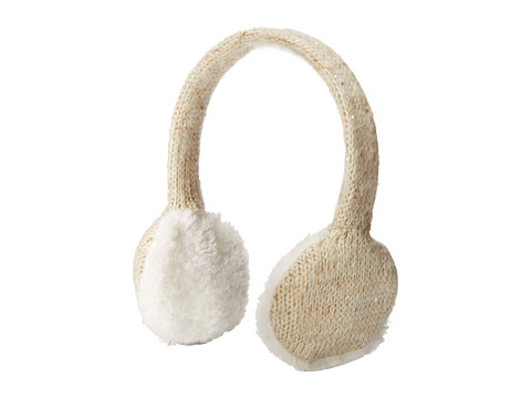Calvin Klein - Marled Sequin Earmuff Headphones (Cr me) Headphones