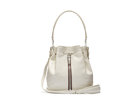 Elizabeth and James - Cynnie Mini Bucket Bag (White) Cross Body Handbags