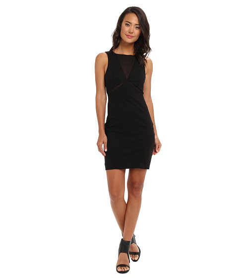 Bardot - Yasmin Mesh Dress (Black) Women's Dress