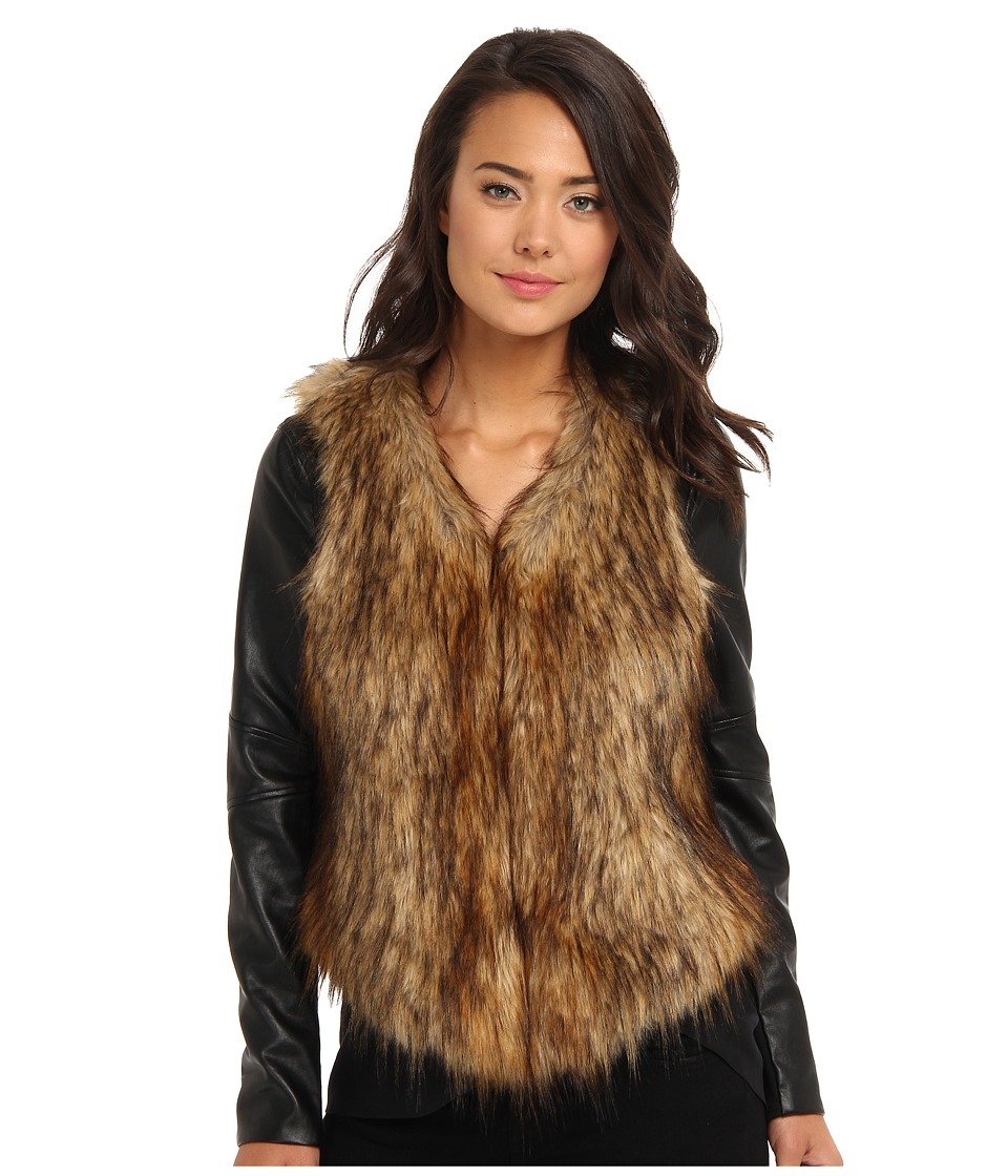 Bardot - Stevie Fur Jacket (Black) Women's Coat