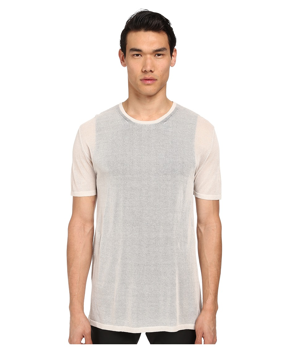 CoSTUME NATIONAL - Double Layered Knit T-Shirt (Sand) Men's Short Sleeve Pullover