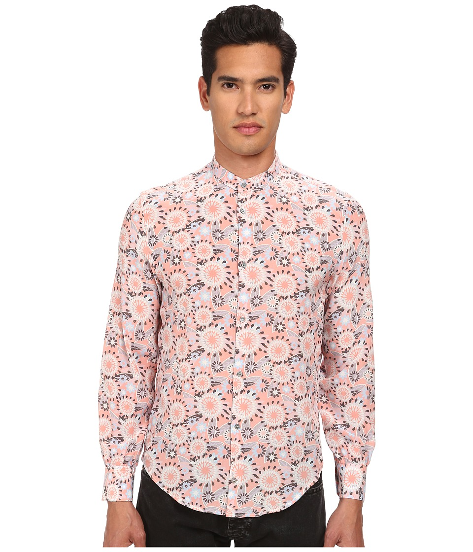 CoSTUME NATIONAL - Mandarin Neck Button Up (Multi) Men's Clothing
