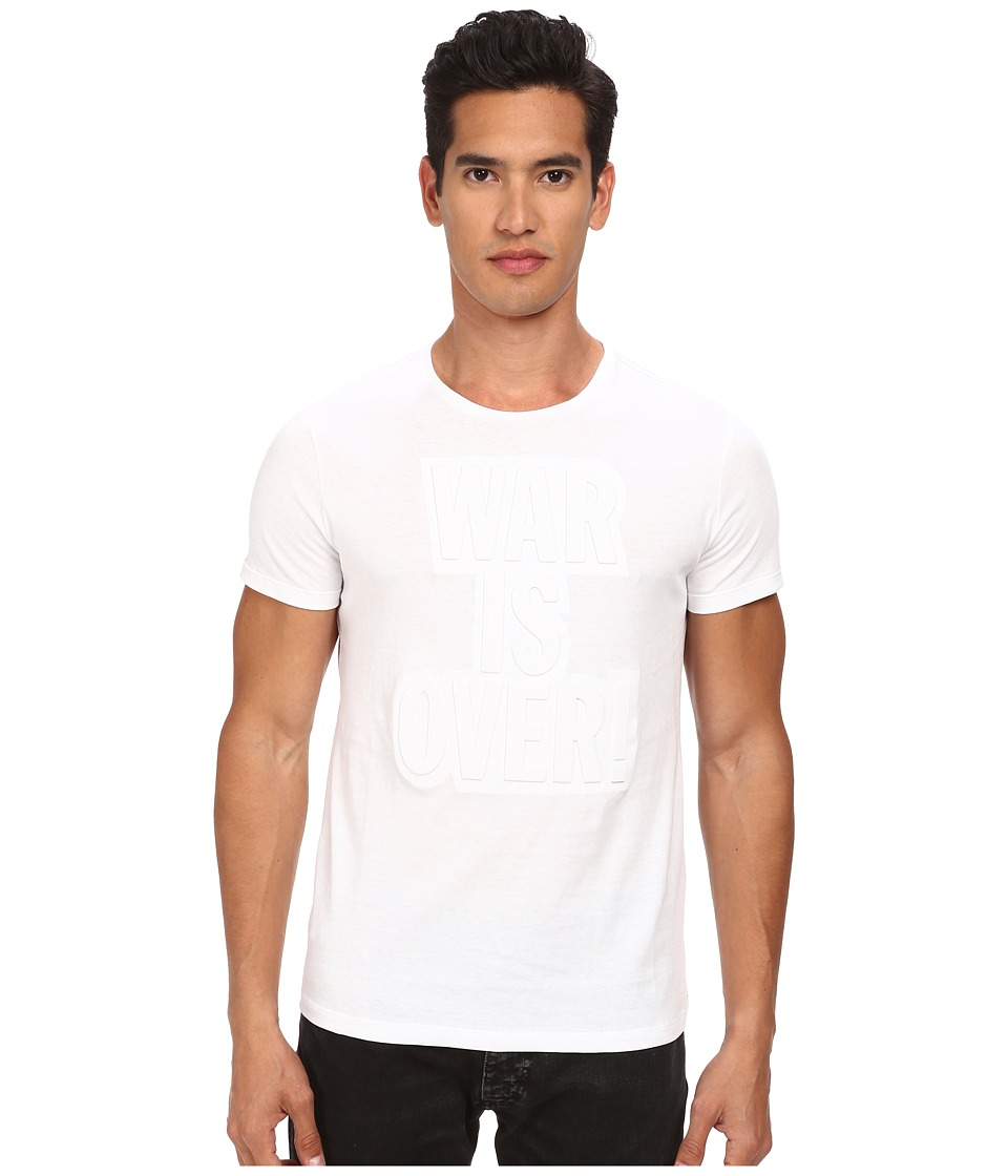 CoSTUME NATIONAL - Embossed T-Shirt (White) Men's T Shirt