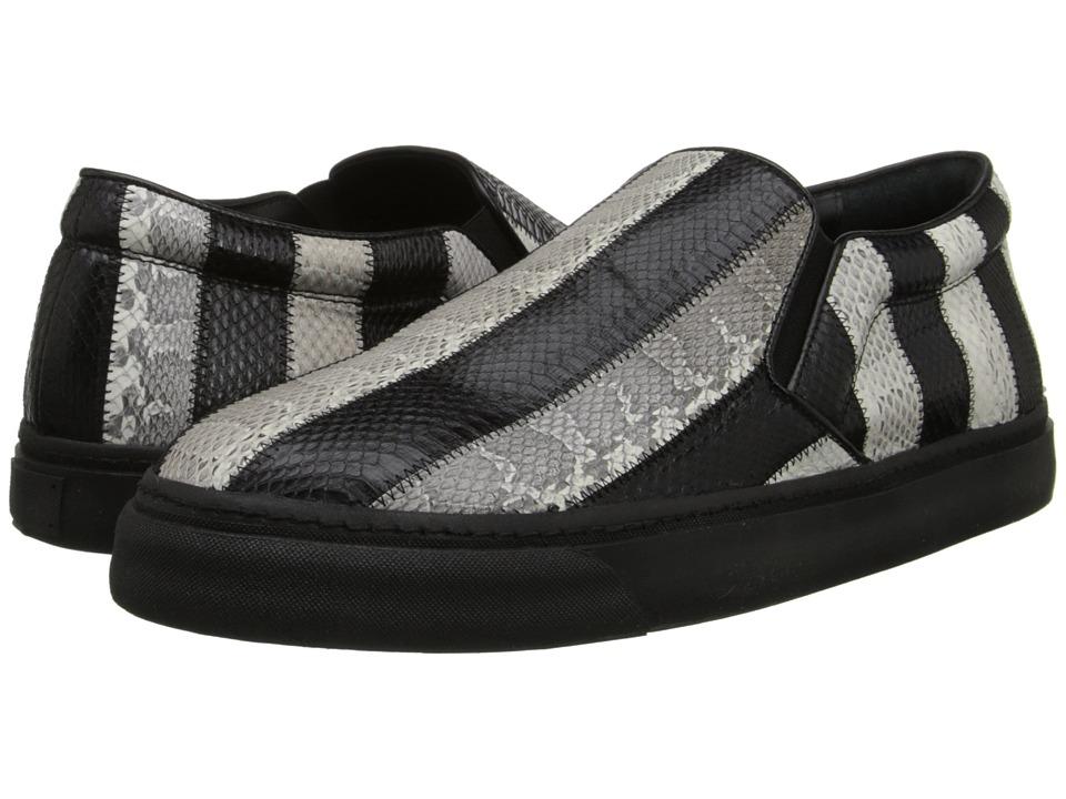 CoSTUME NATIONAL - Slip on Sneaker (Black/White) Men's Slip on Shoes