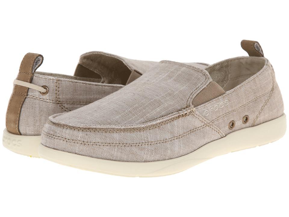 Crocs Walu Chambray Loafer (Khaki/Stucco) Men
