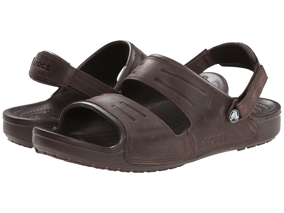 Crocs - Yukon Two Strap Sandal (Mahogany/Mahogany) Men's Sandals